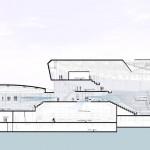 Eissporthalle für Redbull München - Längsschnitt