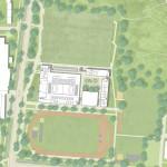 Vierfachsporthalle Erlangen - Lageplan Wettbewerb