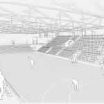 Vierfachsporthalle Erlangen - Innenansicht Halle