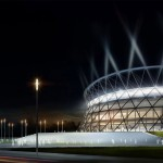 Arena Krakau - Nachtperspektive