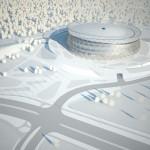 Arena Krakau -  Vogelperspektive