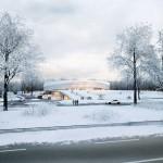Eissporthalle für Redbull München - Blick von Landshuter Allee