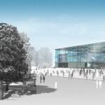 Leichtathletik- und Judohalle, Leipzig - Außenperspektive