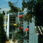 Zwei Häuser in Hollywood